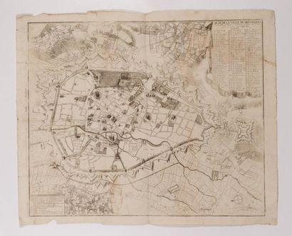 Plan de Bruselles, gravé en taille-douce....