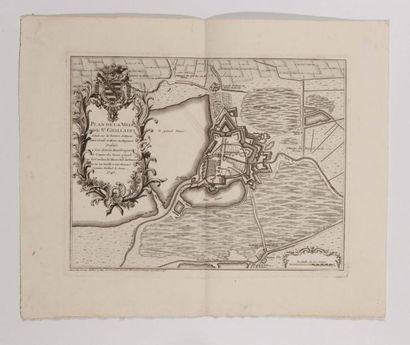 Plan de Saint-Ghillain, gravé en taille-douce....