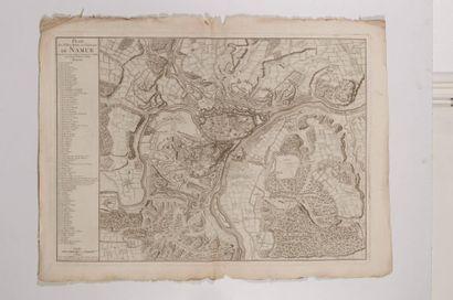 Plan de Namur, gravé en taille-douce. Paris,...