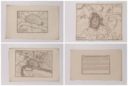 Plan de Mons, gravé en taille-douce, 27 x...