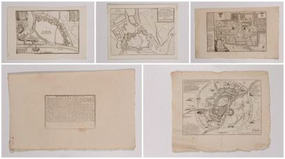 Plan d'Oudenarde, gravé en taille-douce,...
