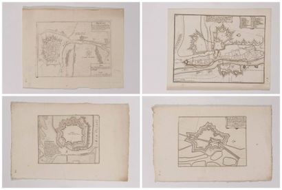 Plan de Nieuport, gravé en taille-douce,...