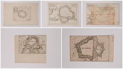 Plan de Maestricht, gravé en taille-douce,...