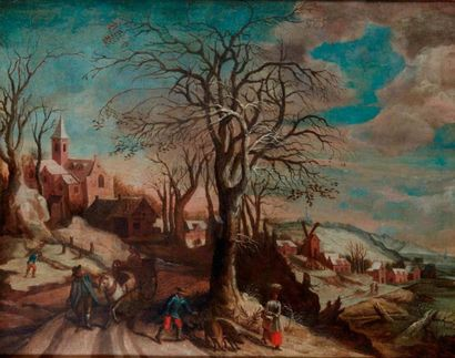 Attribué à Abel GRIMMER (1570 - 1619)