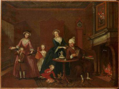 Attribué à l'ARCHIDUCHESSE MARIE CHRISTINE d'AUTRICHE (1742 - 1798)