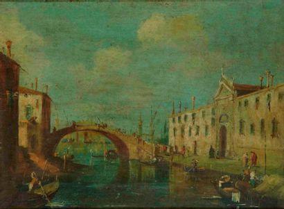 Ecole VENITIENNE du XIXème siècle, dans le goût de Francesco GUARDI