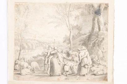 Attribué à Jacques STELLA (Lyon 1596 - Paris 1657)