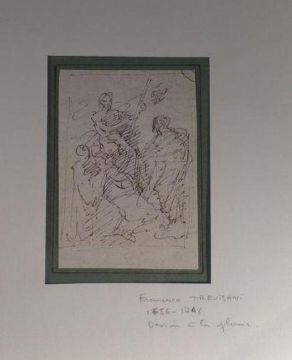 Francesco TREVISANI (1656-1746) ou Angelo TREVISANI (1669- après 1753) Scène religieuse...