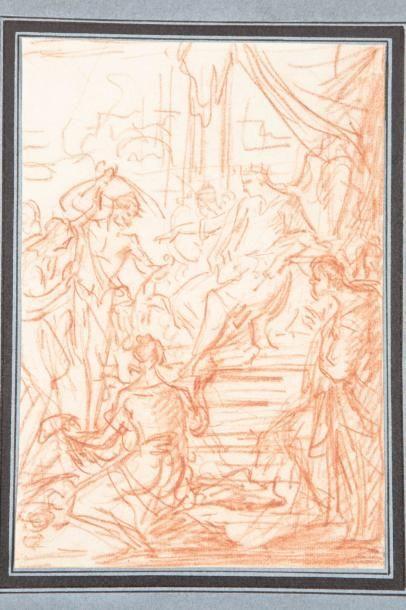 Attribué à Antoine DIEU (Paris vers 1662 - 1727) Recto: le Jugement de Salomon Verso:...