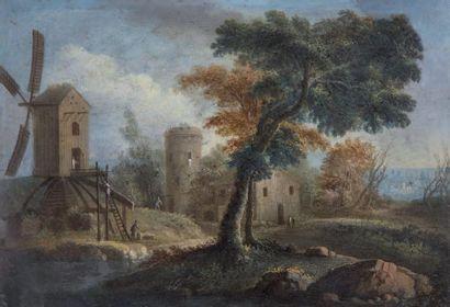 École FLAMANDE du XVIIIe suiveur de Jan BRUEGHEL le Jeune