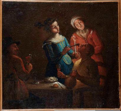 Ecole HOLLANDAISE du XVIIIème, suiveur de Gerrit HONTHORST