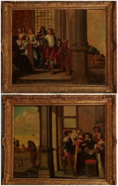 Ecole FRANCAISE du XVIIème siècle, suiveur d'Abraham BOSSE