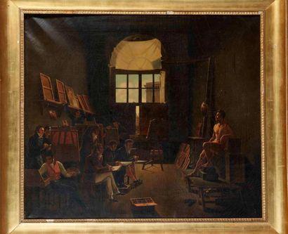 Ecole FRANCAISE vers 1800, atelier de Léon Mathieu Cochere