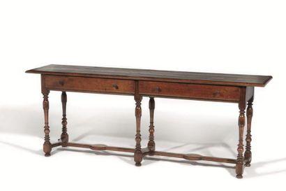 Table console ouvrant à deux tiroirs en ceinture,...
