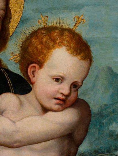 Vicente MASIP, dit JOAN de JOANES (Valence vers 1510 - Bocairente 1579) Vierge à...