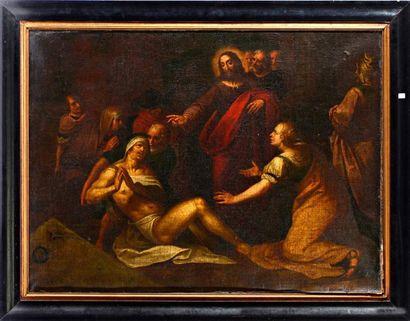 École FLAMANDE du XVIIe siècle, entourage d'Ambrosius FRANCKEN La résurrection de...