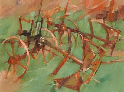 Jean LE MERDY (Concarneau 1928) Brabants Huile sur papier 55 x 75 cm Signé et daté...