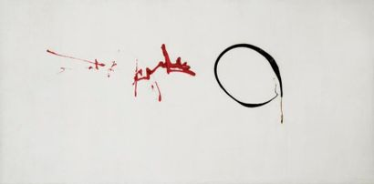 Georges MATHIEU (1921-2012) Blanche d'Escaudoeuvres, 1957 Huile sur toile signée...