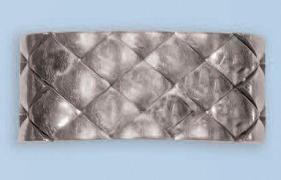 Bague souple en or gris 18 k signée