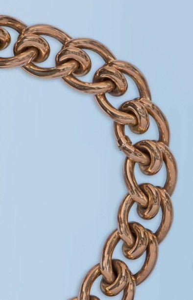 Beau bracelet souple en or rose 18 k. Il...