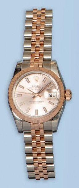 Bracelet montre pour dame en or rose 18 k...