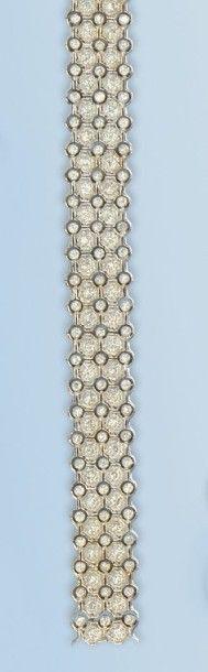 Bracelet en or gris 18 k, formant un ruban...