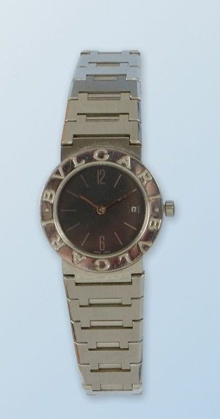 Bracelet montre en acier de marque «BULGARI»,...