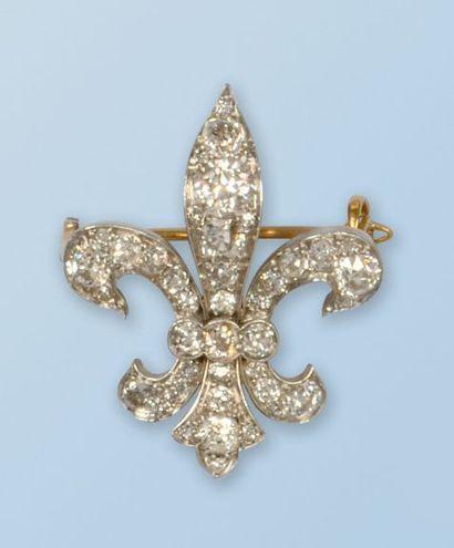 Broche pendentif signée «TIFFANY» en or jaune...