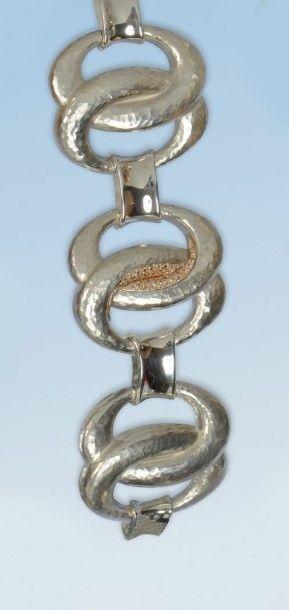 Magnifique bracelet souple en argent 925...
