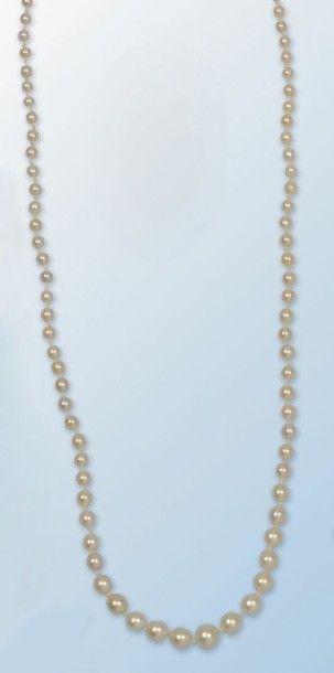 Long collier composé d'une succession de...