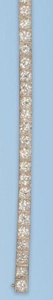 Bracelet en platine 950 millièmes et or gris...