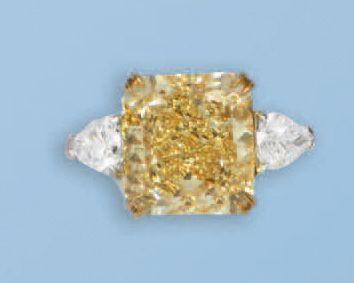 Bague en platine 950 millièmes et or jaune...