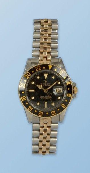Bracelet montre pour homme en acier et or...