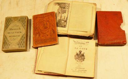 [Almanachs]. Lot de 4 petits almanachs: -...