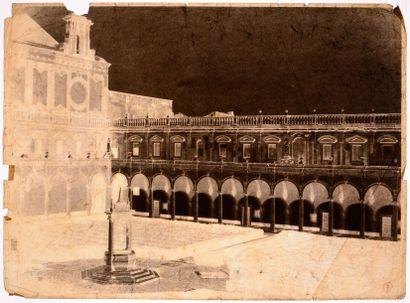 Gustave de Beaucorps (1825-1906)<br>La chartreuse de San Martino, Naples, c. 1858-1859<br>Négatif su