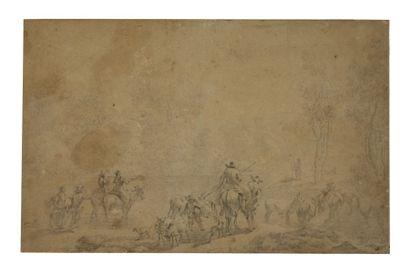 Attribué à Nicolaes Pietersz BERCHEM (Haarlem 1620 - Amsterdam 1683)