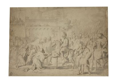 Raymond de LAFAGE (Lisle-sur-Tarne 1650-Lyon 1684) Bertrand comte de Toulouse reçoit...