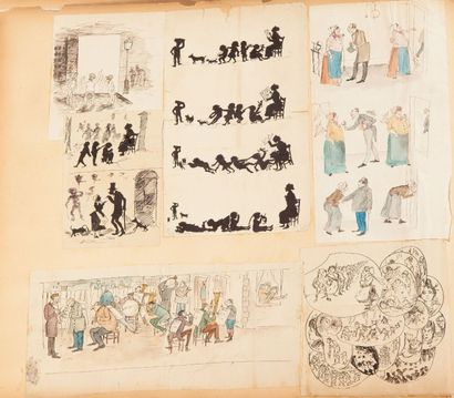 Jules BOIVIN Album de dessin 32 x 38 cm BBA