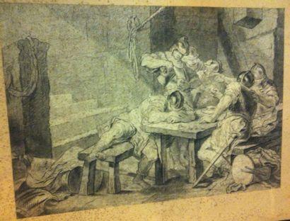 ÉCOLE FRANÇAISE du XVIIIe siècle d'après