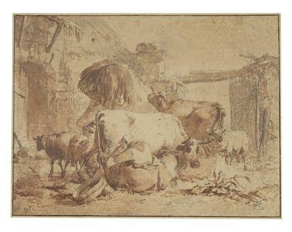 Attribué à Jean-Baptiste HUET (Paris 1745-1811)