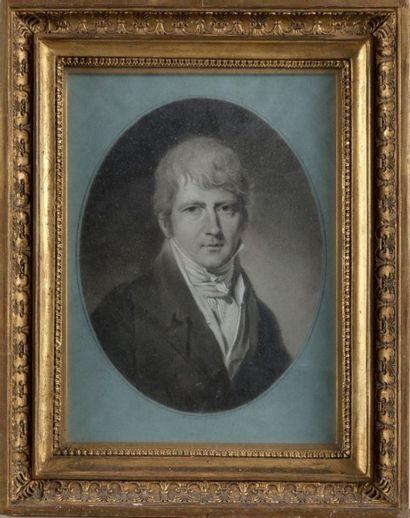 Jacques Antoine Marie LEMOINE (1751 - 1824) Portrait d'Adolphe Edme Theodor Archambault...