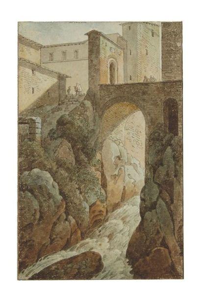 ACHILLE DEVERIA (PARIS 1800-1859) Portrait de Dupin l'ainé Crayon noir 32 x 23,5...