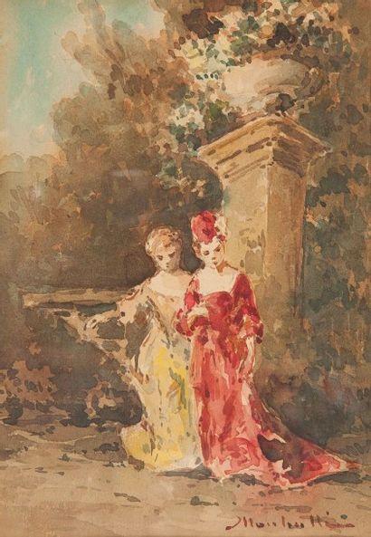 Attribué à Adolphe MONTICELLI (1824 - 1886)