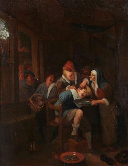 Ecole HOLLANDAISE du XVIIIème siècle, suiveur de Jan STEEN