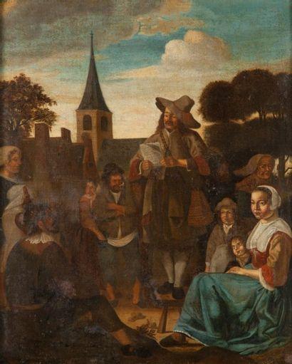 Ecole FLAMANDE du XVIIème siècle, suiveur de Jan STEEN