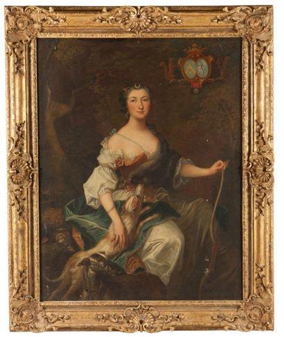 ECOLE FRANCAISE DU XVIIIÈME SIÈCLE, ATELIER DE JEAN BAPTISTE OUDRY Portrait de femme...