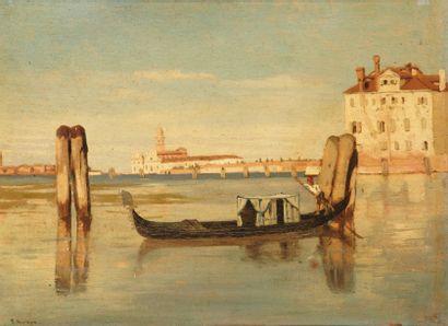 Franz Leo RUBEN (1842-1920) Venise, San Trovaso Panneau 25 x 33 cm Signé F Ruben...