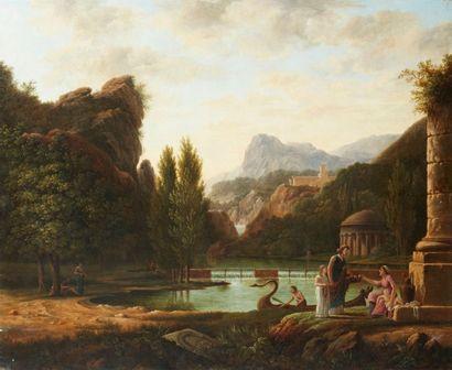 Ecole FRANCAISE du XIXème siècle, suiveur de Pierre Henri de VALENCIENNES Ruines...