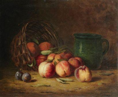 Germain Théodule RIBOT (Saint-Nicolas-d'Artez 1845 - Colombes 1893) Corbeille de...