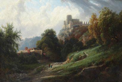 Louis Auguste LAPITO (Joinville-le-Pont 1803 – Boulogne Billancourt 1874) Vue prise...